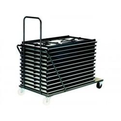 Chariot pour 10/12 tables pliantes 120 x 80 cm