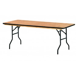 Lot de 20 tables pliantes en bois 183 x 76 cm