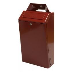 Combiné poubelle-cendrier ultra-résistant au feu
