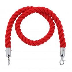 Cordon rouge avec crochets chromés