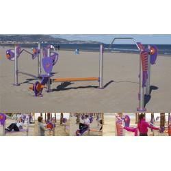 Parcours de remise en forme ZIGZAG pour plage ou gazon