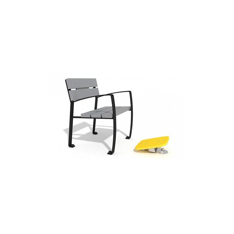 fauteuil avec plateau d 39 habilet pour senior. Black Bedroom Furniture Sets. Home Design Ideas