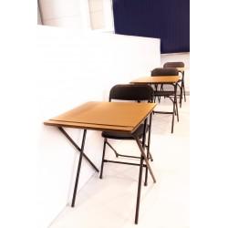 Lot de 10 tables pliantes pour séminaire et salle de travail