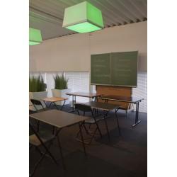 Lot de 10 tables pliantes plateau stratifié 120 x 45 cm