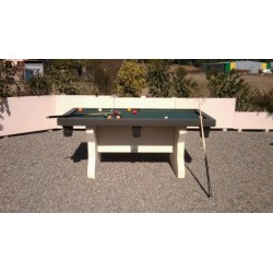 TABLE DE BILLARD EXTERIEURE EN BETON