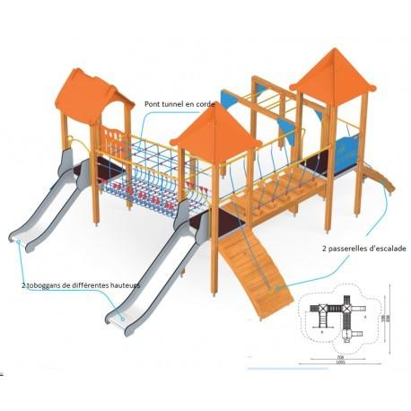 Aires de jeux châteaux pour enfants