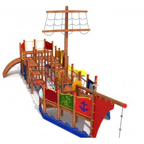 Aire de jeux extérieure bateau