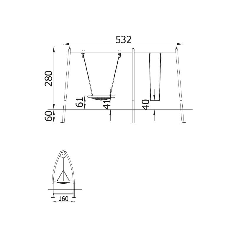 portique balan oire combin. Black Bedroom Furniture Sets. Home Design Ideas