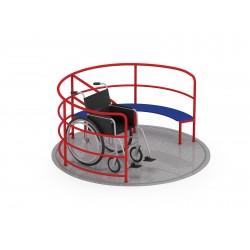 Grand tourniquet avec accès pour fauteuil roulant 200 cm de diamètre