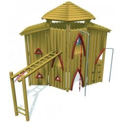 Château en bois de robinier