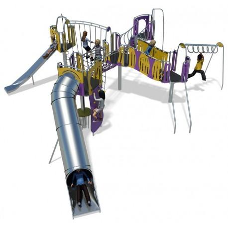 Structures de jeux extérieurs pour enfants en inox