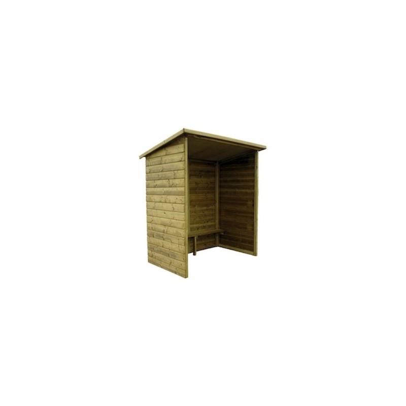 abri bus en bois abri bus bois longueur 3 m. Black Bedroom Furniture Sets. Home Design Ideas
