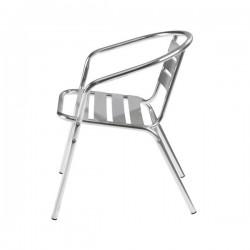 Lot de 10 fauteuils de café en aluminium
