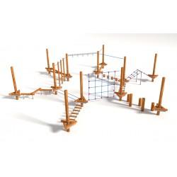 Parcours de jeux et d'agilité N° 2 (en bois)