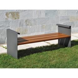 Jardinière acier et bois