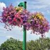 Jardinière sur poteau pour fleurissement aérien