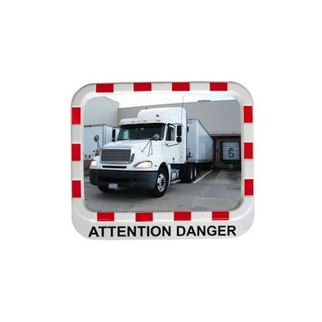 Miroir avec message d'avertissement