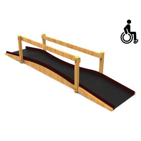 Jeux extérieurs pour enfants en fauteuil roulant