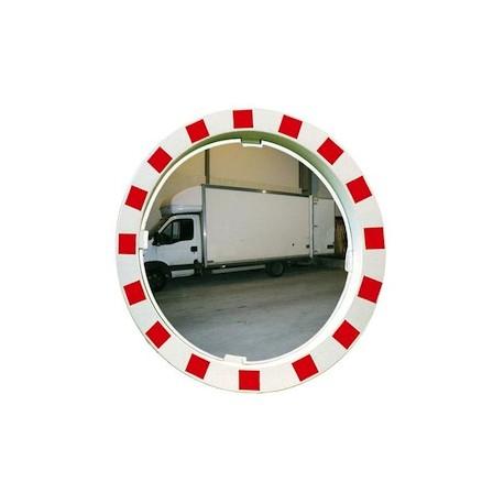 Miroir extérieur blanc rouge
