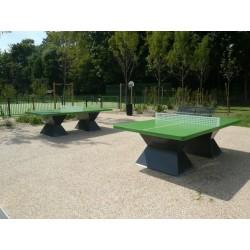 Table ping-pong épaisseur 60 mm en matériaux composites avec filet securité et couleurs originales