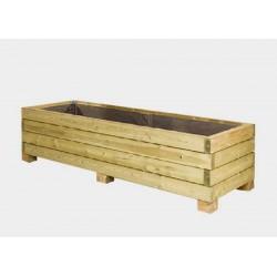 Lot de 4 jardinières en bois : 180 x 60 x H 45 cm