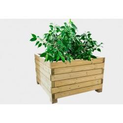 Lot de 4 jardinières bois : 100 x 100 x h 65,5 cm