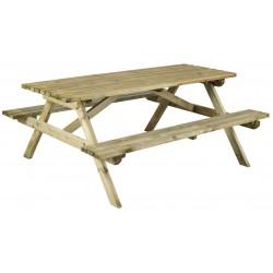 Lot de 2 tables de pique-nique en bois autoclave professionnelle