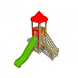 2 plateformes + toboggan + escalier