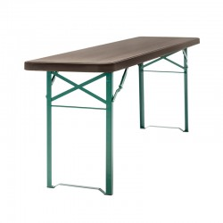 Table pour extérieur / intérieur : 220 x 50 x h 77 cm