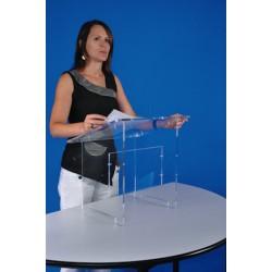 Pupitre de table en plexiglas