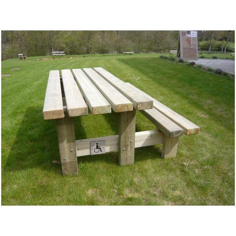 table pique nique pmr table pique nique rustique pmr. Black Bedroom Furniture Sets. Home Design Ideas
