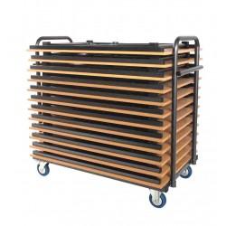 Chariot pour tables rectangulaires