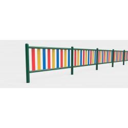 Barrière multicolore pour aires de jeux