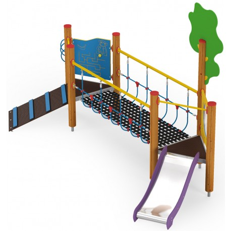 Pont à grimper pour école maternelle