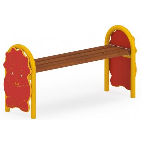 Banc dinosaure pour aire de jeux d'enfants