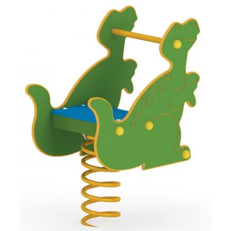 Jeu sur ressort dinosaure