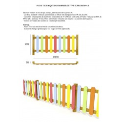 Barrière en bois et HPL