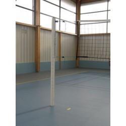 Paire de poteaux de compétition de volley en aluminium et ou en acier galvanisé