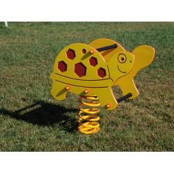 Jeu sur ressort tortue jaune