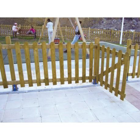 Barrière pour parc de jeux d'enfants