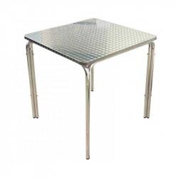 Lot de 10 tables de bar 70 x 70 cm en aluminium