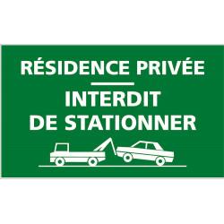 Panneau Résidence privée