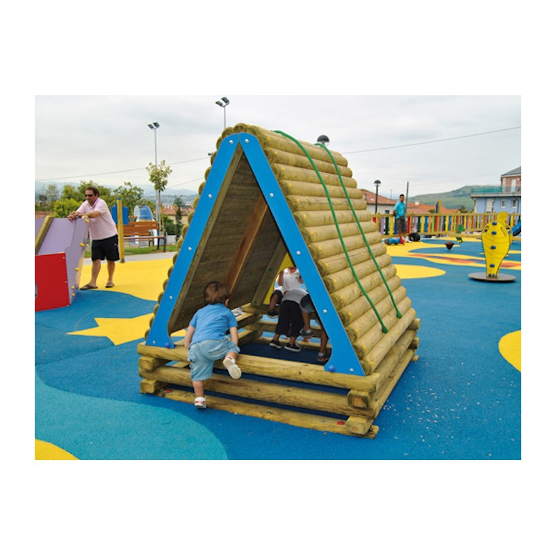 cabane pour enfants cabanes pour cr che cabanes pour aires de jeux. Black Bedroom Furniture Sets. Home Design Ideas