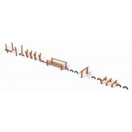 Le parcours des épreuves en bois de robinier