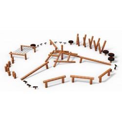 Parcours complet en bois de robinier