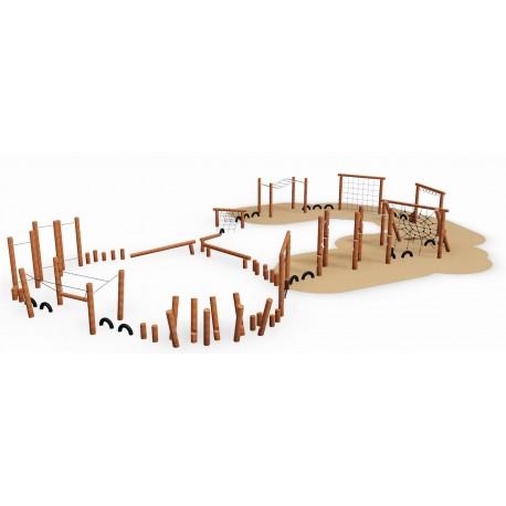 Le parcours antique en bois de robinier