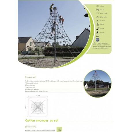 Pyramide de cordes hauteur 5,30 m