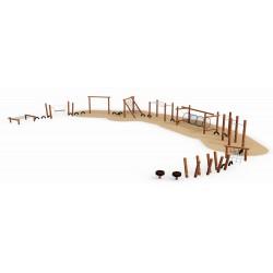 Parcours de Spartacus en bois de robinier