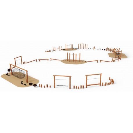 Le parcours des romains en bois de robinier
