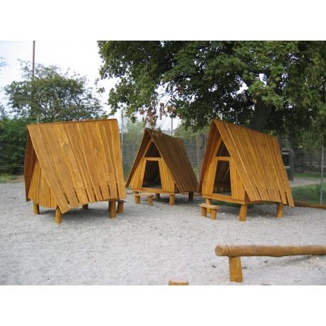 Maisonnette antique en bois de robinier